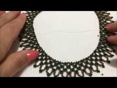 Ağ örgü kolyeYouTube Seed Bead Tutorials, Beading Tutorials, Beading Patterns, Beaded Earrings, Beaded Jewelry, Jewelry Editorial, Jewellery Sketches, Beaded Collar, Jewelry Model