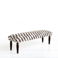 Zebra Kilim Bench for the living room