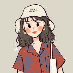 ideas for simple aesthetic wall paper girl Cartoon Art Styles, Cute Art Styles, Arte Indie, Moslem, Dibujos Cute, Cute Cartoon Wallpapers, Korean Art, Wow Art, Kawaii Art