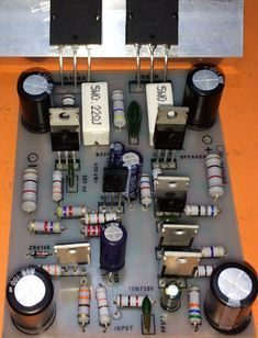 How to make transistor amplifier? using 2 transostor, electronics - Electronics Help Care Electronic Circuit Design, Electronic Kits, Electronic Schematics, Electronics Projects, Hobby Electronics, Power Electronics, Kitchen Electronics, Electronics Storage, Electrical Circuit Diagram