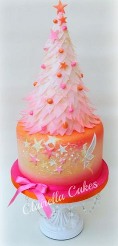 Magical Fairy Christmas Cake - Cake by Clairella Cakes