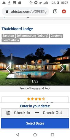 Sandton Johannesburg, House Front, Lodges, South Africa, Luxury, Cabins