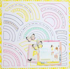 true colours, hand stitched layout by tillyandarthur