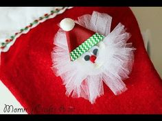 """Simple"" Santa hair clip tutorial HOW TO (Hairbow DIY) (+playlist)"