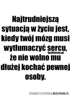 Ile to się u mnie zdarzało i ile razy nie zadziałało? Sad Quotes, Happy Quotes, Inspirational Quotes, Different Quotes, Romantic Quotes, Life Motivation, True Stories, Quotations, Poems