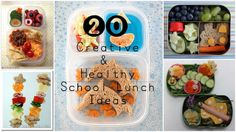 20 Creative & Healthy School Lunch Ideas