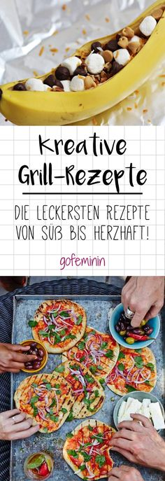 So you have never grilled! 4 alternative recipes that will always come to grate from now on - Leckeres vom Grill // BBQ-Rezepte - Grillen Barbecue Recipes, Grilling Recipes, Pork Recipes, Vegan Recipes, Grill Party, Bbq Grill, Hamburger Meat Recipes, Snacks Für Party, Smoothie Recipes