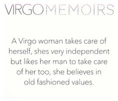 the #virgowoman is rather old fashioned
