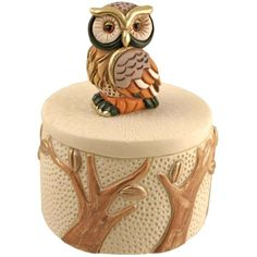 Owl Treasure Box ($6.49) ❤ liked on Polyvore featuring home, home decor, fillers, owl home accessories and owl home decor
