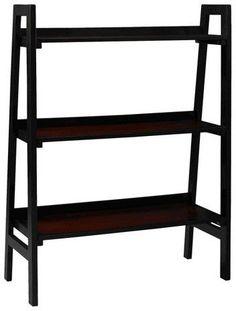 Linon Camden 3 Shelf Ladder Bookcase Black Cherry - Linon Home Decor  #sscollective #affiliate