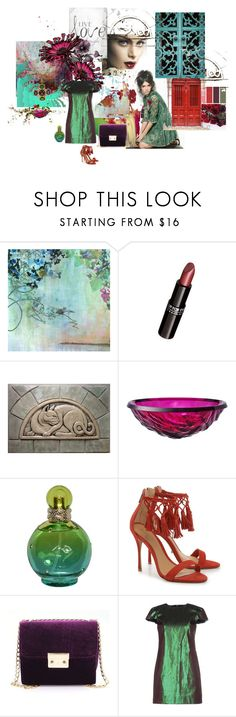 """Verde...."" by maryrosa ❤ liked on Polyvore featuring Marmont Hill, MAKE UP FOR EVER, Kartell, Britney Spears, Schutz, Les Prairies de Paris and Chanel"