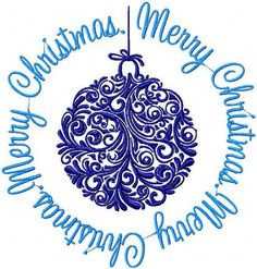 Machine Embroidery design - Christmas Ball - Instant Download