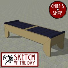 Sketch of the Day: Outdoor Modern Bench