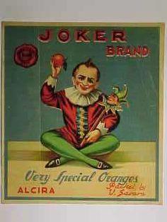 "Naranjas ""Joker Brand"".  Alzira."