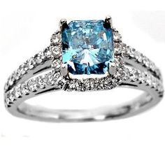 I hope to have a blue diamond someday. They're gorgeous.