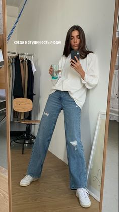 """Uploaded by olivia"" Mode Outfits, Trendy Outfits, Fashion Outfits, Womens Fashion, Estilo Swag, Jeans Boyfriend, Elegantes Outfit, Mode Inspiration, Aesthetic Clothes"