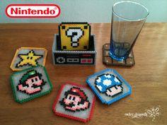 Super Mario Bros. Coasters in Perler Beads !!! By: RockerDragonfly