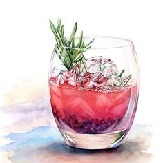 Watercolor Drinks and Deserts on Behance Watercolor Food, Watercolor Illustration, Watercolor Paintings, Dessert Illustration, Watercolours, Food Sketch, Food Painting, Paintings Of Food, Painting Art
