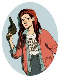 Nancy Wheeler doodle. *shirt* Stranger Things fan art by tumblr user lisasterle