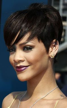 Rihanna Short Hairstyles For Fine Hair 2016                                                                                                                                                                                 More