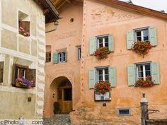 Sgraffito or scraffito, Guarda, Lower Engadine, Switzerland ...