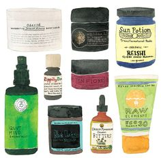 Beauty products in the Raw
