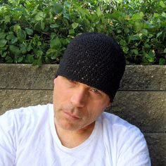 I hand crocheted this 8 long beanie with pure black hemp yarn- this will fit (or stretch to fit) most average size heads (20-23 in circumference)...we are happy to make you a custom size (at no extra cost!). 8= 20.32 centimeters long 20-23= 50.80- 58.42 centimeters in circumference  this hat was made with care, attention to detail and hemp yarn which will keep you cool in the summer and warm in the winter...it is one of the most durable fibers available and while it grows softer wit...