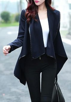 Slap-up Lapel Blazer - Cool Design Lapel Blazer
