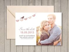 Einladungskarten - Save the Date Magnet oder Karte (W306) - ein Designerstück von MaryPoppins-eu bei DaWanda