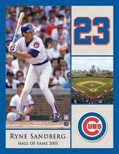Chicago Cubs Hall of Famer Ryne Sandberg