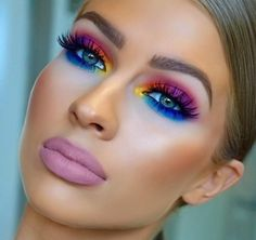 Bright Eyeshadow The eye colors are sooooo The lipstick looks like mortuary makeup! Ugh Bright Eyeshadow The eye colors are sooooo The lipstick looks like mortuary makeup! Makeup Goals, Love Makeup, Makeup Inspo, Makeup Art, Makeup Ideas, Makeup Trends, Makeup Inspiration, 80s Makeup Looks, Makeup Quiz