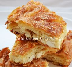 Τα ταξίδια μου : Αφράτη Τυρόπιτα με Σόδα Greek Sweets, Greek Desserts, Greek Recipes, Kitchen Recipes, Cooking Recipes, Greek Pita, Greek Pastries, Greek Cooking, Greek Dishes