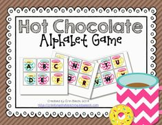 creating & teaching: Hot Chocolate & Hearts {Freebie} Adjust for star words too! Christmas Alphabet, Preschool Christmas, Preschool Winter, Preschool Ideas, Alphabet Activities, Literacy Activities, Winter Activities, Literacy Centers, Chocolate Hearts