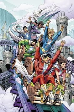 """""""It's time to say the magic word again. and artist are bringing back SHAZAM! in a new monthly comic book series, coming this November! Marvel E Dc, Marvel Avengers, Marvel Comics, Cosmic Comics, Batman Universe, Dc Universe, Shazam Comic, Original Captain Marvel, Dr Fate"""
