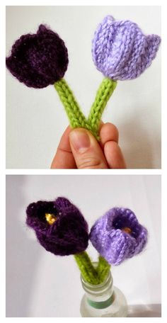 For knitting lovers, we have compiled a few Free Flower Knitting Patterns for you. They are beautiful and spring perfect knitted flowers. Baby Knitting Patterns, Knitting Designs, Knitting Stitches, Knitting Projects, Crochet Projects, Crochet Patterns, Knitting Ideas, Knitted Flowers Free, Knitted Poppies
