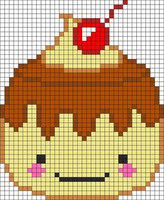 pixel art kawaii with grid junk food - Google Search