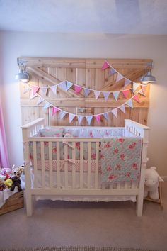 Beautiful backdrop idea for a shabby chic meets whimsical nursery, boy or girl! Just love this :-)