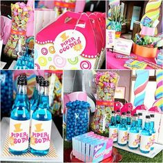 Detailed images of the Willy Wonka Party