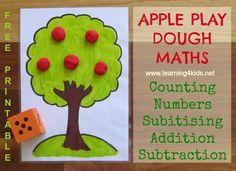 Apple Tree Play Dough Maths