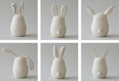 Mitsy is the genius behind clay based store ArtMind on Etsy. She works with many different shapes including bunny shapes. These sweet pieces are highly collectable and offer a serene, contemplative… Clay Crafts For Kids, Easter Crafts, Arts And Crafts, Fimo Clay, Polymer Clay Crafts, Diy Air Dry Clay, White Clay, Clay Projects, Clay Creations