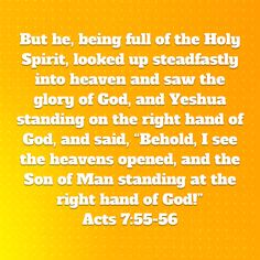 Acts 7, The Son Of Man, Man Standing, Looking Up, Holy Spirit, Bible, Cards Against Humanity, God, Sayings