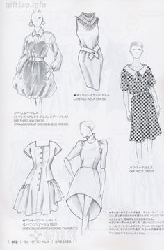 Japanese book and handicrafts - Guid to Fashion Design by bunka fashion coollege Fashion Terminology, Fashion Terms, Look Fashion, Diy Fashion, Ideias Fashion, Fashion Design Drawings, Fashion Sketches, Fashion Infographic, Fashion Illustration Dresses