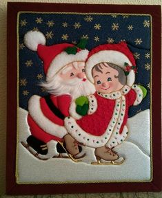 Imagen relacionada Christmas Sewing, Christmas Nativity, Felt Christmas, Christmas Stockings, Christmas Crafts, Christmas Ornaments, Christmas Table Decorations, Ornament Crafts, Small Quilts