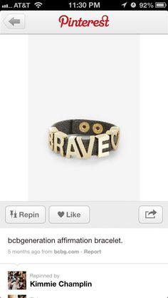 BCBG Affirmation bracelets I would like!