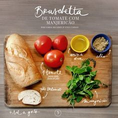 Bruschetta, Great Recipes, Favorite Recipes, Healthy Recipes, Easy Recipes, Confort Food, Greens Recipe, Easy Cooking, I Love Food