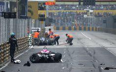 Formula 3 in Macao, crash