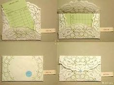 Image result for how to make a paper doily envelope