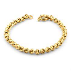Gold Chains For Men Roller Bolt Ring Bracelet in Yellow Gold-Filled Mens Gold Bracelets, Bangles, Ring Armband, Gold Chains For Men, Golden Jewelry, Gold Jewellery Design, Ring Bracelet, Chain Jewelry, Body Jewelry