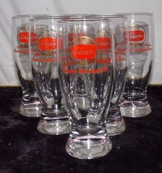 6 New York Worlds Fair 1964-1965 Rare vintage Schaefer beer glasses barware in Collectibles, Historical Memorabilia, Fairs, Parks & Architecture | eBay