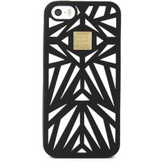 Herve Leger Cutout iPhone 5 Case ($58) ❤ liked on Polyvore featuring accessories, tech accessories, phone cases, phones, cases, electronics, black and hervé léger